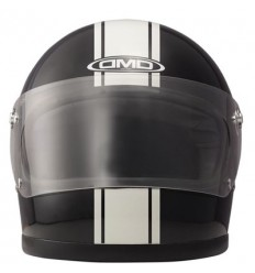 Casco DMD Helmets Rocket vintage grafica Racing nero e bianco