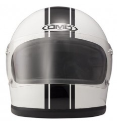 Casco DMD Helmets Rocket vintage grafica Racing bianco e nero