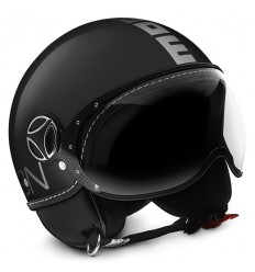 Casco Momo Design Fighter Classic nero lucido e argento