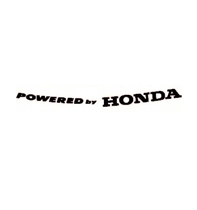 Adesivo Powered by Honda nero