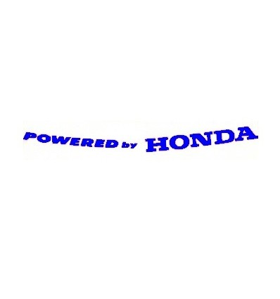 Adesivo Powered by Honda blu