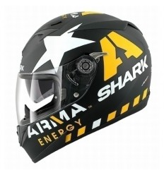 Casco Shark S700S Pinlock grafica Redding nero opaco e giallo