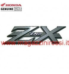 Carena - Fregio logo Honda ZX in rilievo carbonio