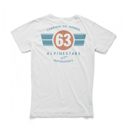 T-Shirt Alpinestars grafica World Tee bianca