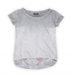 T-Shirt Rude Riders da donna Star White con stampa