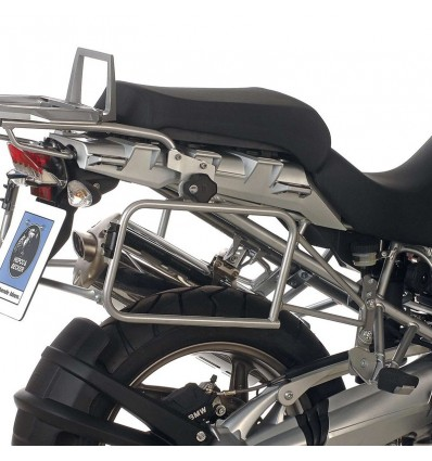Coppia telai laterali argento Hepco & Becker Lock It per BMW R1200GS 04-07