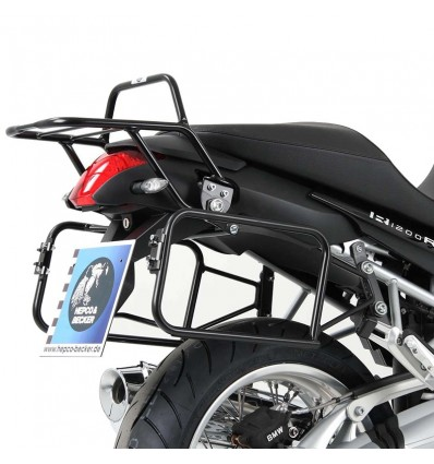 Coppia telai laterali neri Hepco & Becker Lock It per BMW R1200R 06-10