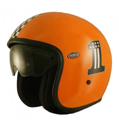 Casco Premier Jet Vintage grafica CK One Orange