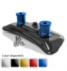 Cover e rialzi Performance1 per schienale pilota TMAX in carbonio