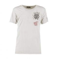 T-Shirt Rude Riders da uomo Star White con stampa