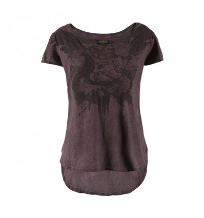 T-Shirt Rude Riders da donna Deep Purple con stampa