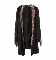 Cardigan Rude Riders da donna nero