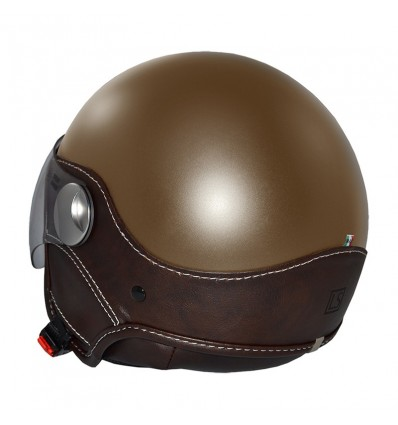 Casco New Max LS Trendy Vision marrone opaco e moro