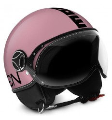 Casco Momo Design Fighter Classic rosa metallizato e nero
