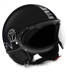 Casco Momo Design Fighter EVO nero lucido e cromo