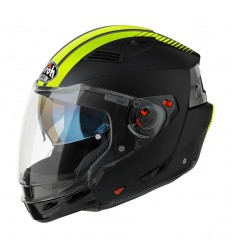 Casco Airoh modulare Executive Stripes nero e giallo