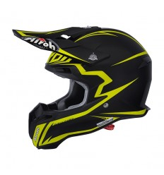 Casco Airoh enduro Terminator 2.1 grafica Fit nero e giallo