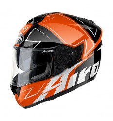 Casco integrale Airoh ST 701 grafica Way arancio e nero