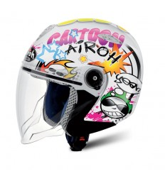 Casco Junior Jet Airoh Mr. Jet Cartoon gloss
