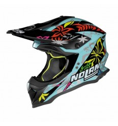 Casco off-road Nolan N53 Practice Replica D. Petrucci aquamarine