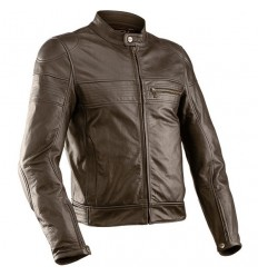 Giacca da moto in pelle M-Tech Superaxel marrone