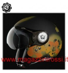 Casco Indian Coast grafica Summertime nero opaco