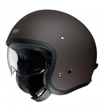 Casco Shoei J-O con visiera a scomparsa marrone opaco
