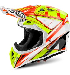 Casco Airoh enduro Aviator 2.2 grafica Double Orange Gloss