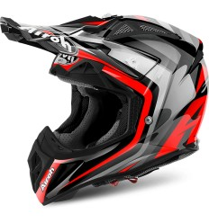 Casco Airoh enduro Aviator 2.2 grafica Warning Red Gloss