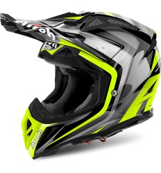 Casco Airoh enduro Aviator 2.2 grafica Warning Yellow Gloss