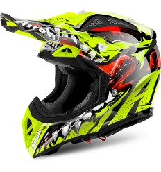 Casco Airoh enduro Aviator 2.2 grafica Grim Yellow Gloss