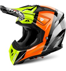Casco Airoh enduro Aviator 2.2 grafica Revolve Orange Gloss