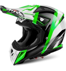 Casco Airoh enduro Aviator 2.2 grafica Revolve Green Gloss