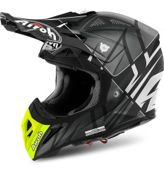 Casco Airoh enduro Aviator 2.2 grafica Styling White Matt