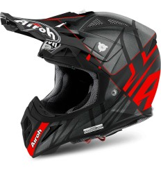 Casco Airoh enduro Aviator 2.2 grafica Styling Red Matt