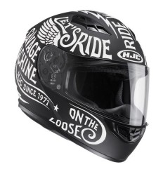 Casco integrale HJC CS-15 Rebel nero e bianco