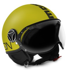 Casco Momo Design Fighter Classic giallo opaco e antracite
