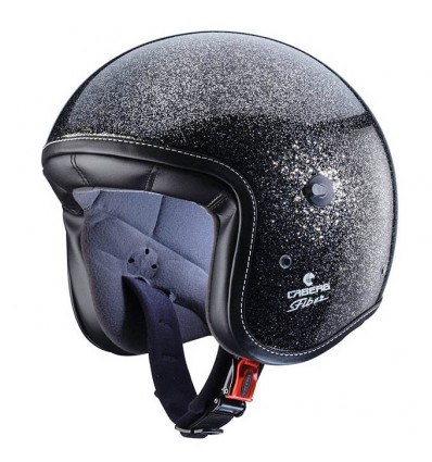 Casco Caberg Freeride Metal Flake superleggero in fibra nero