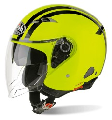 Casco Airoh City One Flash con doppia visiera giallo e nero