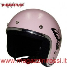 Casco Dammtrax retrò Cheer Butterfly rosa lucido