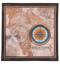 Foulard Helstons stampato grafica India