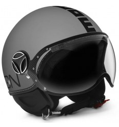 Casco Momo Design Fighter Classic grigio opaco e nero