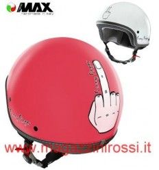 Casco New Max grafica Funny Finger corallo