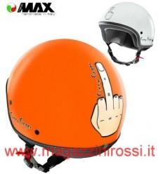 Casco New Max grafica Funny Finger arancio