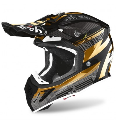 Casco Airoh enduro Aviator 2.3 AMS2 Novak gold chrome