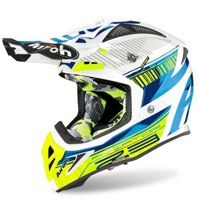 Casco Airoh enduro Aviator 2.3 AMS2 Novak blue chrome