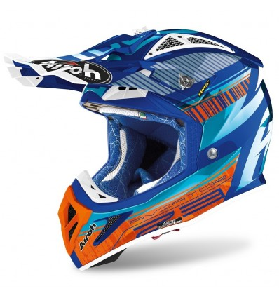 Casco Airoh enduro Aviator 2.3 AMS2 Novak azure chrome
